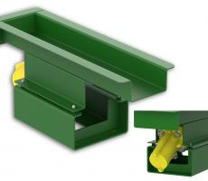Model CF-A air powered vibratory feeder is ideal for hazardous environments.
