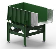 Model EMF electromechanical vibratory feeder designed with stainless steel feed tray for high-temperature applications
