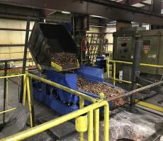 Materion relies on Cleveland Vibrator's EMF electromechanical feeder to convey copper into furnaces safely.