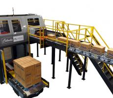 Columbia Machine HL4200 high-level palletizer with optional Smart Diagnostics