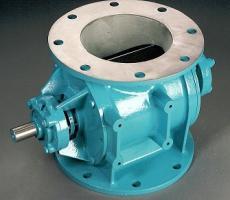 Drop thru rotary airlock valve