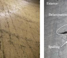 Examples of deterioration caused by non-uniform pressures that resulted from eccentric discharge