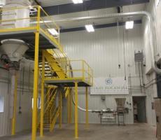 Figure 5: Photo pilot plant at Aveka Manufacturing facility in Fredericksburg, IA