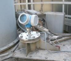 Figure 2: A radar level instrument installed on top of a silo