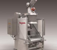 Flexicon's new Tip-Tite drum dumper transfers hazardous bulk material from small and large drums into downstream processing equipment or storage vessels.