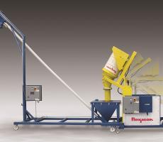 Flexicon mobile drum dumper-conveyor system