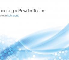 """Freeman Technology offers """"Choosing a Powder Tester"""""""
