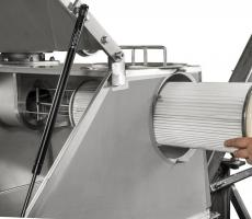 Hapman's SR dust collector features a tool-less filter for removal and replacement through a side panel.