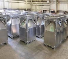 Custom Powder Systems aluminum cone top IBC