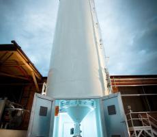 Bulk storage silo for the storage of flour