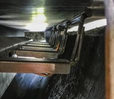 Martin Engineering CleanScrape secondary conveyor belt cleaner