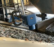 MoistTech sensor measuring moisture in shredded recycled rubber