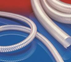 The AIRDUC PUR 353 transport hose offers double the service life of conventional polyurethane equivalents.