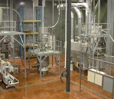 Pneumatic conveying system for food flavorings