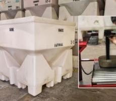 MODRoto Powder-Saver hopper container cuts material waste
