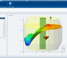 Figure 3: With a detailed picture of the product distribution, it is a simple matter for a level instrument's software to calculate the center of gravity for the contents in a vessel.