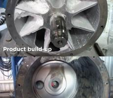 Valve wear and product build-up