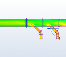 Figure 5: Trunk branch entries CFD