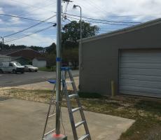 Photo 2: 10-ft tall drop test