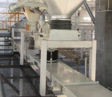 Horizontal motion conveyors replaced belt conveyors for a more dust free environment.