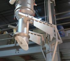 Floor‐mounted column‐lift vacuum receivers are ideal for applications requiring from‐floor conveying up to 25 ft above processing or packaging equipment.