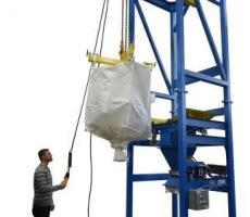 BPS Model MTD-4K bulk bag discharger with hoist