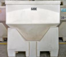 MODRoto's Powder-Saver dry hopper container in a sanitary design