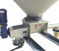 Metalfab's dual-outlet, heavy-duty volumetric feeder