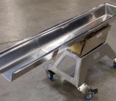 JVI's stainless steel electromagnetic vibratory feeder