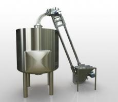 The aeromechanical conveyor can easily feed the mashtun in the brewery or distillery.