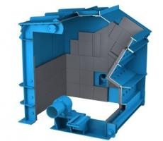 The open discharge HSI has no screens or grates holding material inside the crusher.