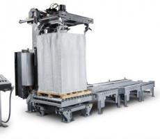NBE's 3-A-, USDA-, FDA-, and BISSC-compliant bulk bag filling system