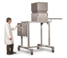 Hapman's food-grade volumetric screw feeder/seasoner