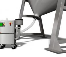 The PharmaDry dries large blenders and tanks in 30 minutes or less