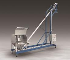 FLEXICON mobile flexible screw conveyor with multi-purpose hood