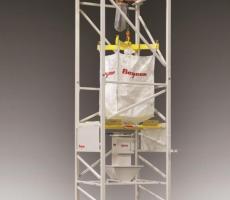 Flexicon's new Bulk-Out bulk bag weigh batch unloader with seismic bracing