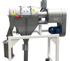 Kemutec's Kek K500CVL inline vacuum conveying centrifugal sifter