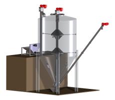 Van Beek vertical silo mixer