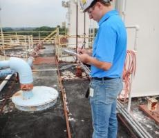 Silo roof inspection