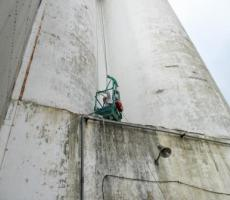Silo exterior wall inspection