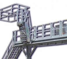 Green Access & Fall Protection heavy-duty tracking gangways