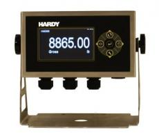 Hardy Process Solutions' swivel mount enclosure contains HI 6000 Series weight processors