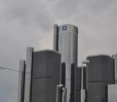 The headquarters of General Motors in Detroit. Image courtesy of the Michigan Municipal League