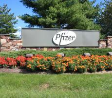 A sign at a Pfizer facility in the United States. Image courtesy of the Montgomery County Planning Commission on Flickr