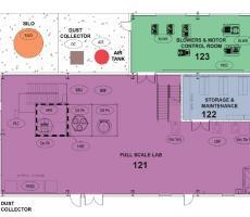 Bulk Solids Innovation Center full-scale test lab