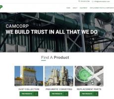 The new CAMCORP website. Image courtesy of CAMCORP