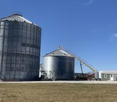 The Central Kentucky Grain facility in Lebanon, KY. Image courtesy of Superior Ag