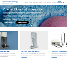 Freeman Technology recently rolled out a new website. Image courtesy of Freeman Technology