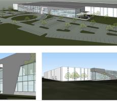 Rendering of new Flexco building