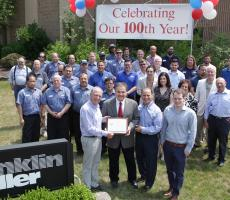 Franklin Miller Inc. honored for 100th anniversary